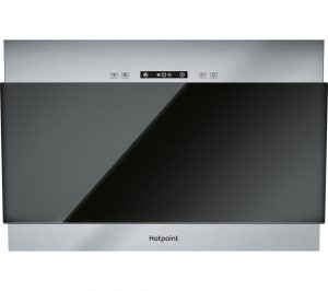 black hotpoint phvp64falk integrated cooker hood review