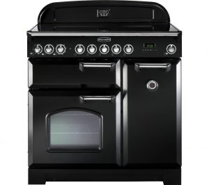 Black and Chrome Rangemaster Classic Deluxe 90 Electric Induction Range Cooker Review
