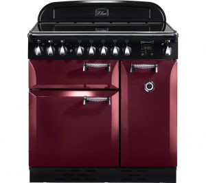 Cranberry and Chrome Rangemaster Elan 90 Electric Induction Range Cooker Review
