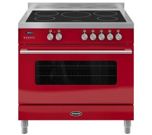 Gloss Red and Stainless Steel Britannia Delphi 90 RC9SIDERED Electric Induction Range Cooker Review