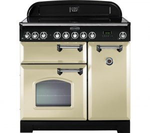 Cream and Chrome Rangemaster Classic Deluxe 90 Electric Ceramic Range Cooker Review