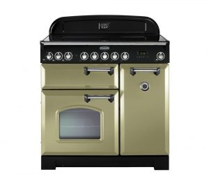 Olive Green and Chrome Rangemaster Classic Deluxe 90 Electric Ceramic Range Cooker Review