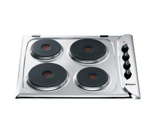 Stainless Steel Hotpoint E604X Electric Solid Plate Hob Review