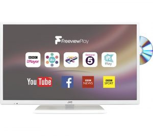 White JVC LT-32C676 32 inch Smart LED TV with Built-in DVD Player Review