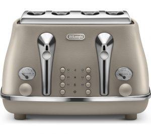 Beige Delonghi Elements CTOE4003 BG 4 Slice Toaster Review