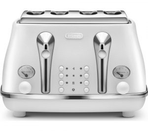White Delonghi Elements CTOE4003 W 4 Slice Toaster Review