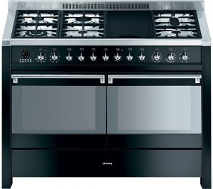 Black and Stainless Steel Smeg Opera A4BL-8 120 cm Dual Fuel Range Cooker Review