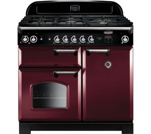 Cranberry and Chrome Rangemaster Classic CLA100DFFCY/C 90 cm Dual Fuel Range Cooker Review
