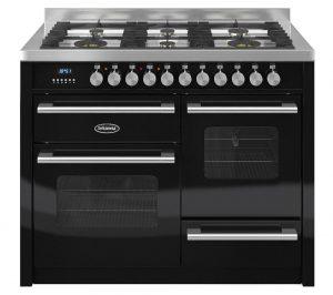 Matte Black and Stainless Steel Britannia Delphi 110 RC11XGGDEK Dual Fuel Range Cooker Review