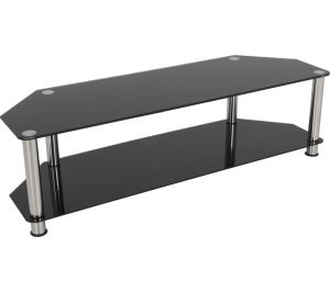 Black and Chrome AVF SDC1400 TV Stand Review
