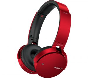 Red Sony MDR-XB650BTR Extra Bass Wireless Bluetooth Headphones Review