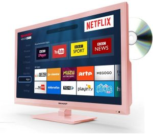 Rose Gold Sharp LC-24DHG6001KR 24 inch Smart LED TV with Built-in DVD Player Review