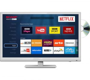 White Sharp LC-24DHG6001KW 24 inch Smart LED TV with Built-in DVD Player Review