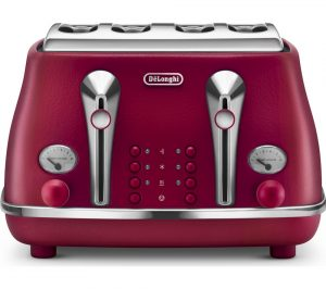 Red Delonghi Elements CTOE4003 R 4 Slice Toaster Review