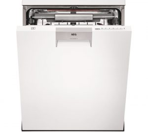 White AEG ComfortLift FFE63806PW Full-size Dishwasher Review
