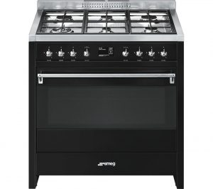 Black and Stainless Steel Smeg A1BL-9 90 cm Dual Fuel Range Cooker Review