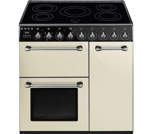 Cream and Black Smeg Blenheim BM93IP 90 cm Electric Induction Range Cooker Review