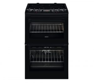 Black Zanussi ZCV46250BA 55 cm Electric Cooker Review